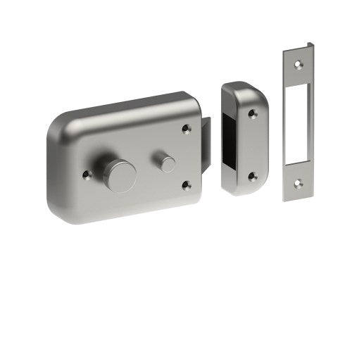 Rim Night Latch inc open-out Strike. Thumb Turn Inside (Cylinder not included)