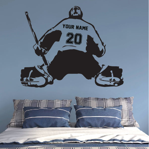 Personalized GOALIE Wall Decal