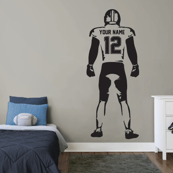 Standing American Football Player Wall Sticker