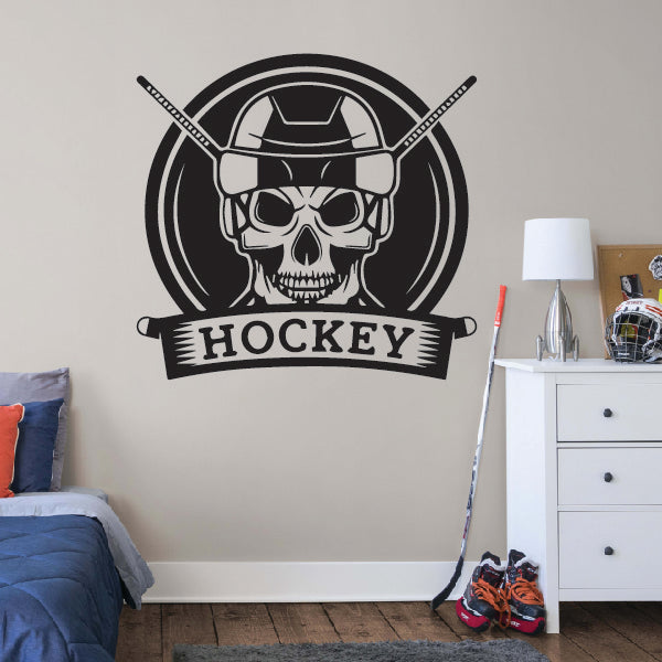 Hockey Skull Sticker