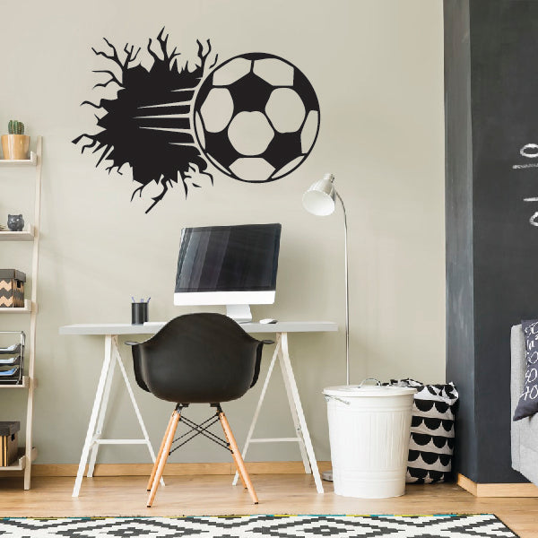 "3D Soccer Ball ""Broken wall"""