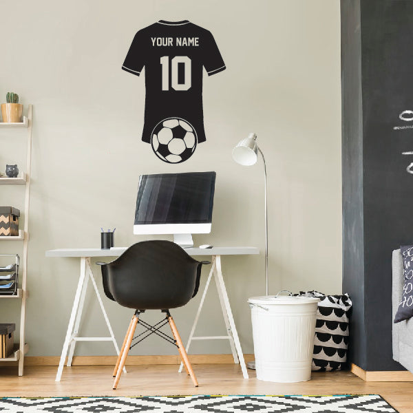 Personalized Soccer player t-shirt with name and number