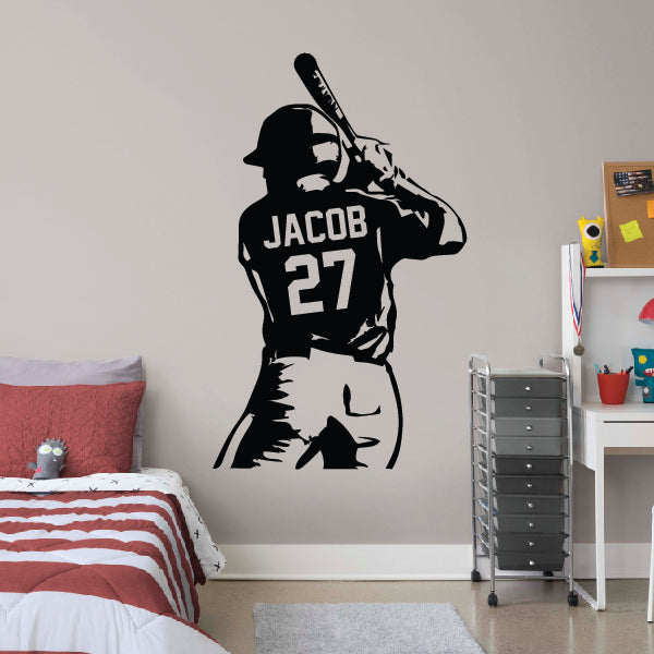 Personalized Half Baseball Player