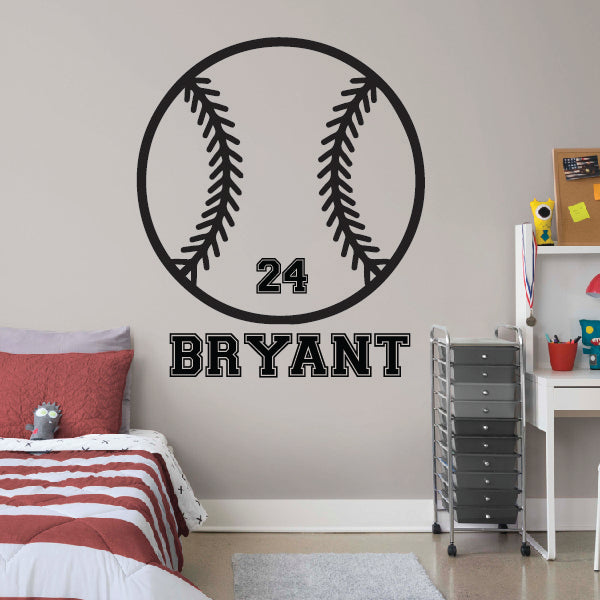 Personalized Baseball Ball with name and number