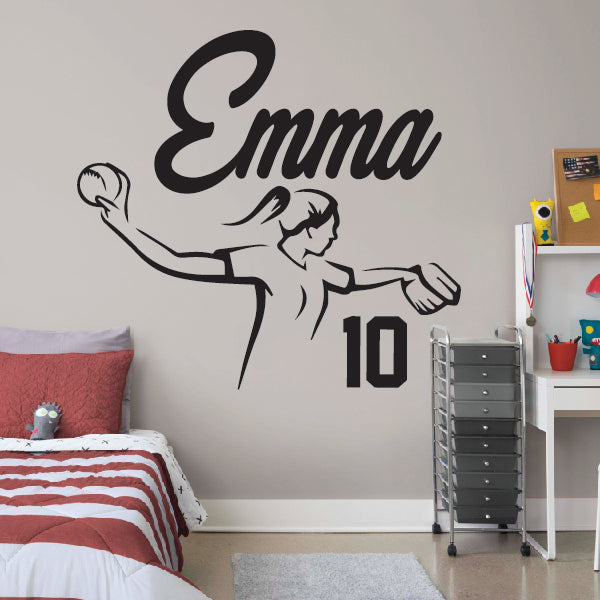 Personalized Softball Girl With Name and Number