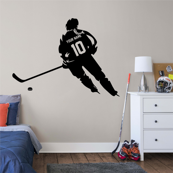 GIRL Hockey Player in the Game Wall Sticker