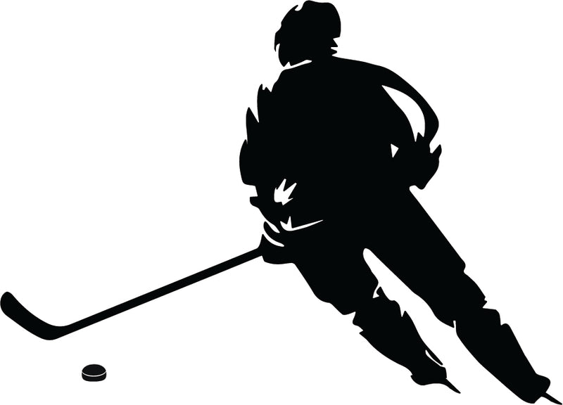 Hockey Player in the Game Wall Sticker