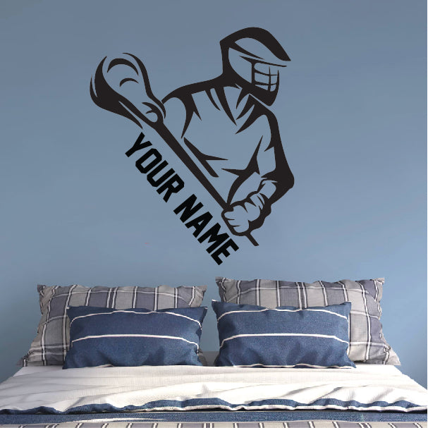 Lacrosse Personalized Wall Sticker