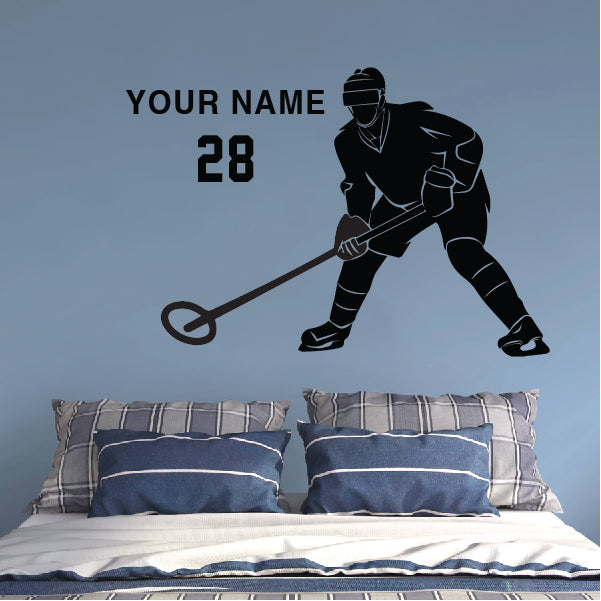 Ringette Player with name and number