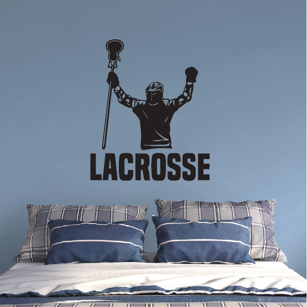 Happy Lacrosse player