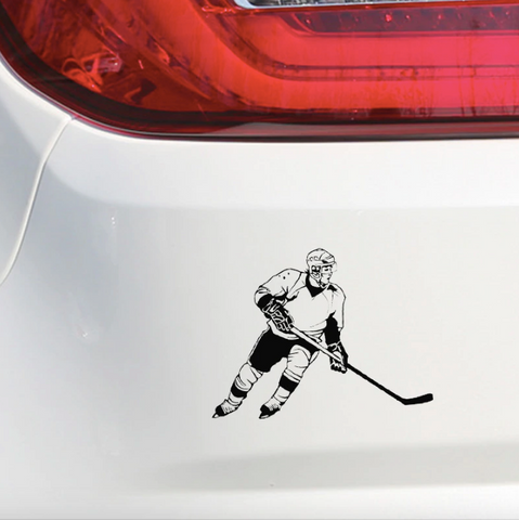 Hockey sticker on you car!