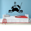 Image of GIRL HOCKEY GOALIE personalized name and number wall decal