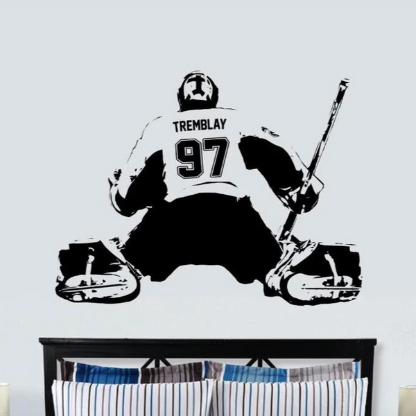Hockey GOALIE Sticker wall decal