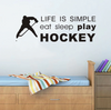 Image of Eat, Sleep, Hockey Wall Sticker
