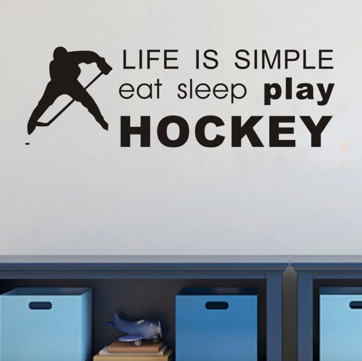Eat, Sleep, Hockey Wall Sticker