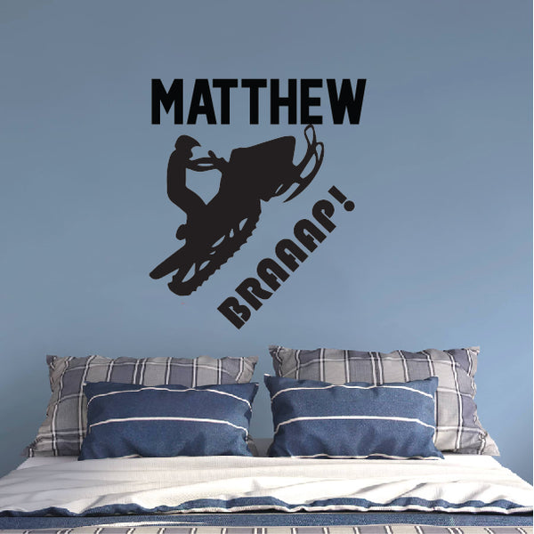 Snowmobile Braaap Wall Sticker