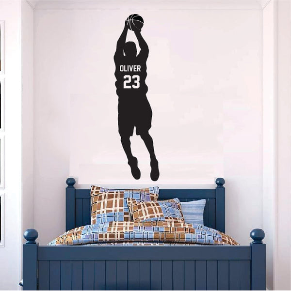 Basketball Player Throwing Ball Sticker