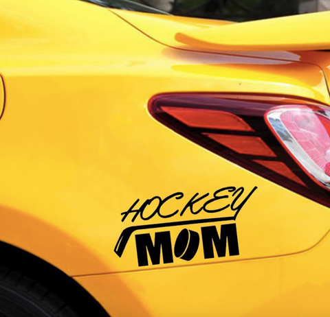 Hockey MOM car, wall, mirror.. sticker