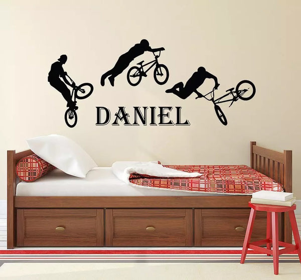 BMX tricks wall decal