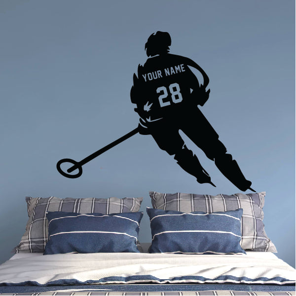 Ringette Player in the Game Wall Sticker