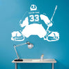 Image of Personalized Name and Number on Hockey GOALIE Sticker