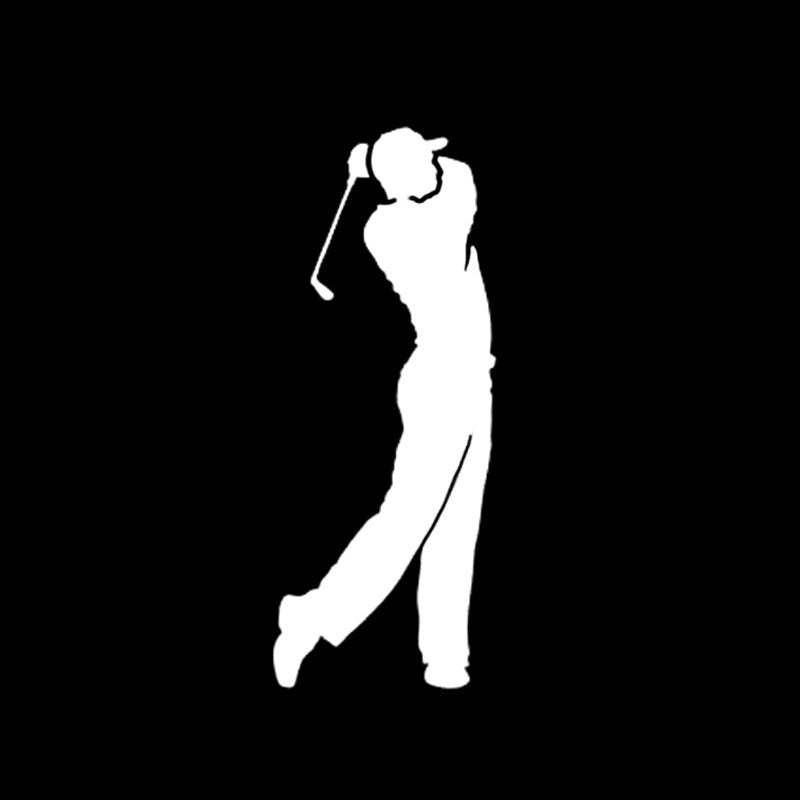 Golfer sticker