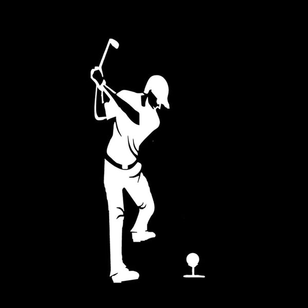 Golfer decal - After shot