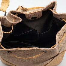 Load image into Gallery viewer, wantmustneed.com / Handmade Natural Cork Bucket Bag | Silver Grid [variant_title]