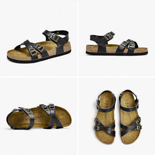 Load image into Gallery viewer, Genuine Leather Sandals | Cross-Tied Emily_wantmustneed.com