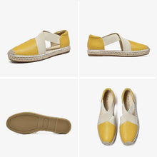 Load image into Gallery viewer, Genuine Leather Sandals | Espadrilles Loafers Nera_wantmustneed.com