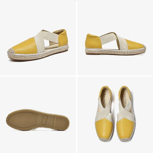 Genuine Leather Sandals | Espadrilles Loafers Nera_wantmustneed.com