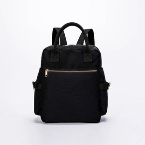 wantmustneed.com / Canvas Backpack | Stella Ivy Black