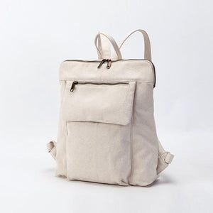 wantmustneed.com / Canvas Backpack | Emily Luna Beige / 13 Inches