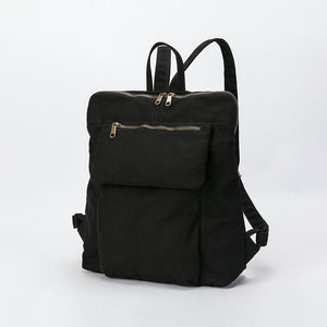 wantmustneed.com / Canvas Backpack | Emily Luna Black / 13 Inches