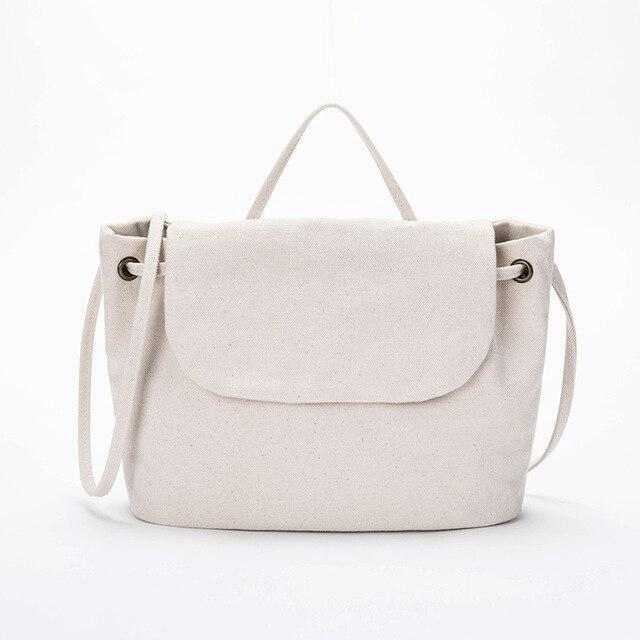 wantmustneed.com / Canvas Shoulder Bag | Chrissi Jo Beige