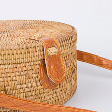 Load image into Gallery viewer, Round Handmade Rattan Bag | Hasp Top_wantmustneed.com