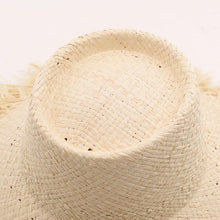 Load image into Gallery viewer, Handmade Bucket Sun Hat | Raffia Straw Hadley_wantmustneed.com