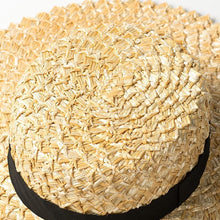 Load image into Gallery viewer, Handmade Boater Sun Hat | Rough Raffia Cora_wantmustneed.com