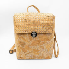 Load image into Gallery viewer, wantmustneed.com / Handmade Natural Cork Backpack | Silver Grid [variant_title]