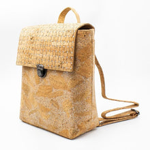 Load image into Gallery viewer, Handmade Natural Cork Backpack | Silver Grid_wantmustneed.com