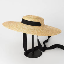 Load image into Gallery viewer, wantmustneed.com / Handmade Wide Brim Sun Hat | Raffia Straw Boater Amelie [variant_title]