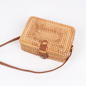 wantmustneed.com / Square Handmade Rattan Bag | Top Clutch [variant_title]