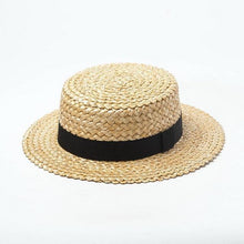 Load image into Gallery viewer, wantmustneed.com / Handmade Boater Sun Hat | Fine Straw Mila Brim 5cm