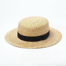 Load image into Gallery viewer, wantmustneed.com / Handmade Boater Sun Hat | Fine Straw Mila Brim 7cm