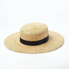 Load image into Gallery viewer, wantmustneed.com / Handmade Boater Sun Hat | Fine Straw Mila Brim 10cm