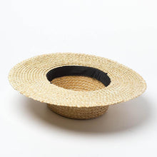 Load image into Gallery viewer, wantmustneed.com / Handmade Boater Sun Hat | Fine Straw Mila [variant_title]