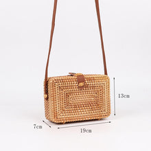 Load image into Gallery viewer, wantmustneed.com / Square Handmade Rattan Bag | Top Clutch [variant_title]