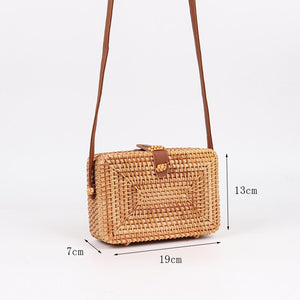 Square Handmade Rattan Bag | Top Clutch_wantmustneed.com