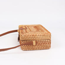 Load image into Gallery viewer, Square Handmade Rattan Bag | Top Clutch_wantmustneed.com