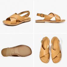 Load image into Gallery viewer, Genuine Leather Sandals | Buckle Strap Ember_wantmustneed.com